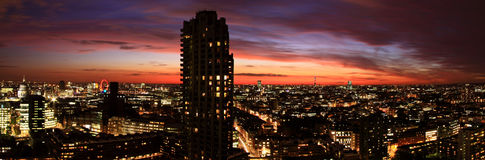 Barbican, London. A view from one of the Barbican towers of another and the city of London Royalty Free Stock Image