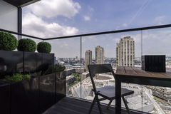 Barbican seen from a balcony Stock Image