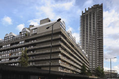Barbican Tower Block. Residential Tower block on the Barbican estate London, UK dating from the 1960's Stock Photos