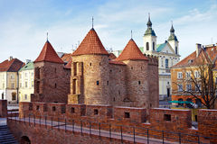 Barbican in Warsaw / Poland stock photography