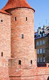 Barbican in Warsaw .  Poland Royalty Free Stock Images