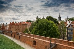 Barbican  in Warsaw. Poland Stock Image