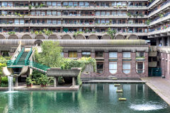 Barbican Water Feature Royalty Free Stock Photos