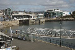 The Barbican waterfront in Plymouth UK Stock Images