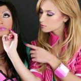 barbie lali mody dziewczyn pomadki makeup Obrazy Royalty Free