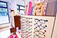 Barbie-oogglasinzameling Stock Foto's