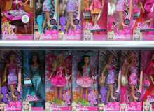 Barbie in opslag Stock Foto's