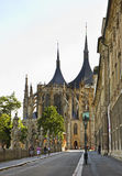 Barborska Street in Kutna Hora. Czech Republic Royalty Free Stock Photography