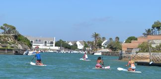 Barbotage dans la baie du St Francis photos stock