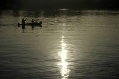 Barbotage de kayak Photo libre de droits