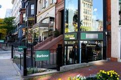Barbour, Newbury Street, Boston, MA. Royalty Free Stock Photo