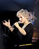 Barbra Lica utför på All-kanadensaren Jazz Festival, porthopp, Ontario September 13, 2015 arkivfoton