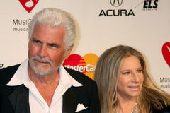 Barbra Streisand, James Brolin photo libre de droits