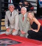 Barbra Streisand, James Brolin, Johnny Grant Images stock