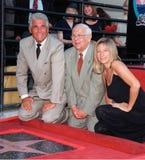 Barbra Streisand, James Brolin, Johnny Grant Imagens de Stock