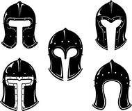Barbute Medieval War Helm Stock Images