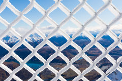Barbwire covered by snow Stock Images