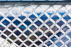 Barbwire covered by snow Royalty Free Stock Photo