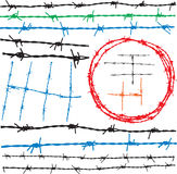 Barbwire elements Stock Photo