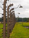Barbwire fence in concentration camp Stock Image