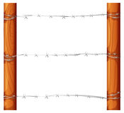 A barbwire fence Stock Photos