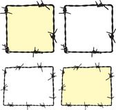 Barbwire frame. For your design Stock Photos