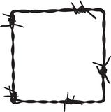 Barbwire frame. For your design Royalty Free Stock Photo