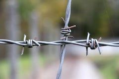 Barbwire in het gedenkteken van het Concentratiekamp Dachau Stock Afbeelding