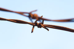 Barbwire inextricable photographie stock