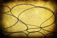 Barbwire with a grunge background texture Royalty Free Stock Photography