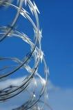 Barbwire rotolato Fotografia Stock Libera da Diritti