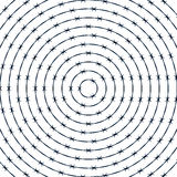 Barbwire round pattern Royalty Free Stock Photography
