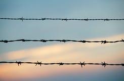 Barbwire и sky.JH Стоковое Изображение