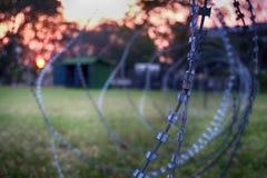 Barbwire-Spule Lizenzfreies Stockfoto