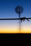 Barbwire windmill Stock Photos