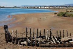 Barca abandonada Imagem de Stock Royalty Free