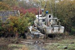 Barca abbandonata Fotografie Stock Libere da Diritti