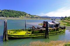 Barca abbandonata Fotografia Stock