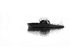 Barca in acqua Fotografia Stock