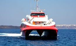 Barca ad alta velocità Fotografia Stock