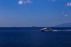Barca ad alta velocità Immagine Stock