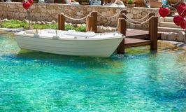 Barca ai bacini Fotografie Stock