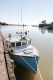 Barca al bacino Fotografia Stock