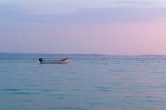Barca al crepuscolo Fotografia Stock
