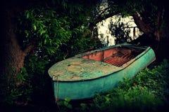 Barca al largo Fotografia Stock Libera da Diritti