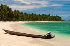 Barca al paradiso. Fotografie Stock Libere da Diritti