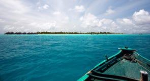 Barca al paradiso Fotografia Stock