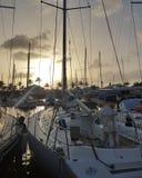 Barca al porto Immagini Stock