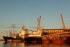 Barca al porto di Toamasina Immagini Stock Libere da Diritti