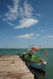 Barca al quay Fotografie Stock Libere da Diritti